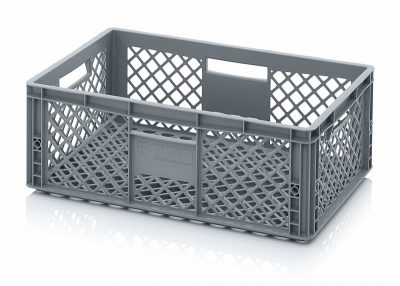 Perforated Vented Euro Plastic Stacking Container - Large 55 Litre