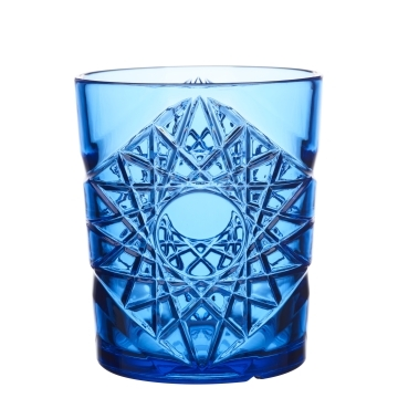 Blue Plastic Glass