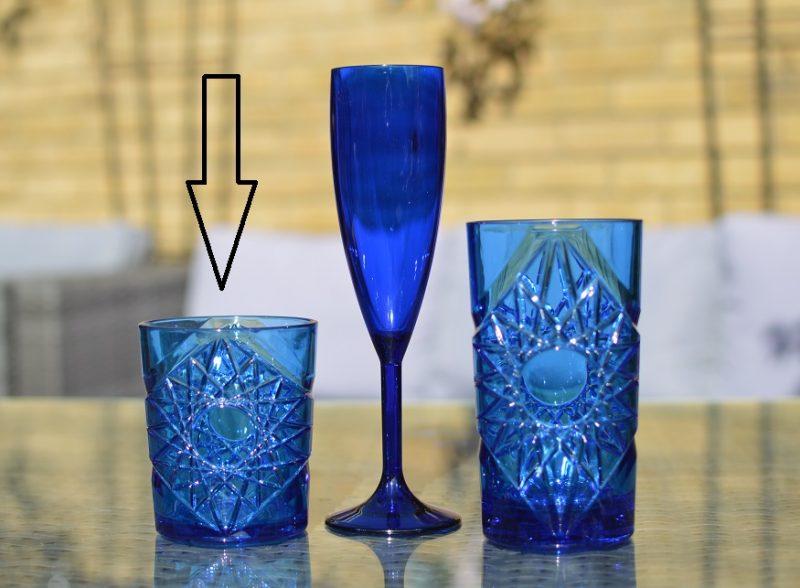 Reusable Plastic Blue Rocks Tumbler Glass 11.8oz