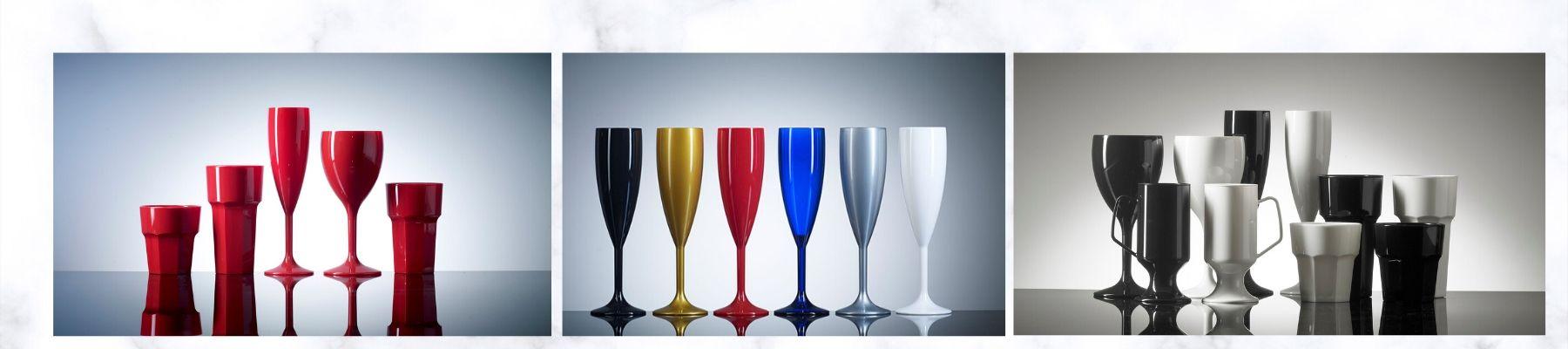 Coloured Plastic Glasses