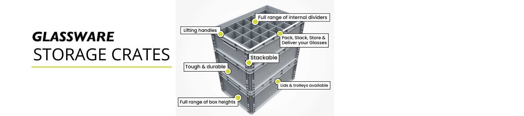 GLASS STORAGE EURO CRATES