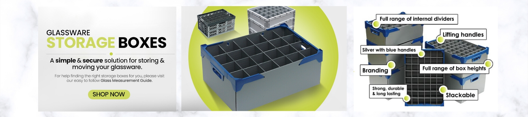 Glassware Storage Boxes and Crates UK