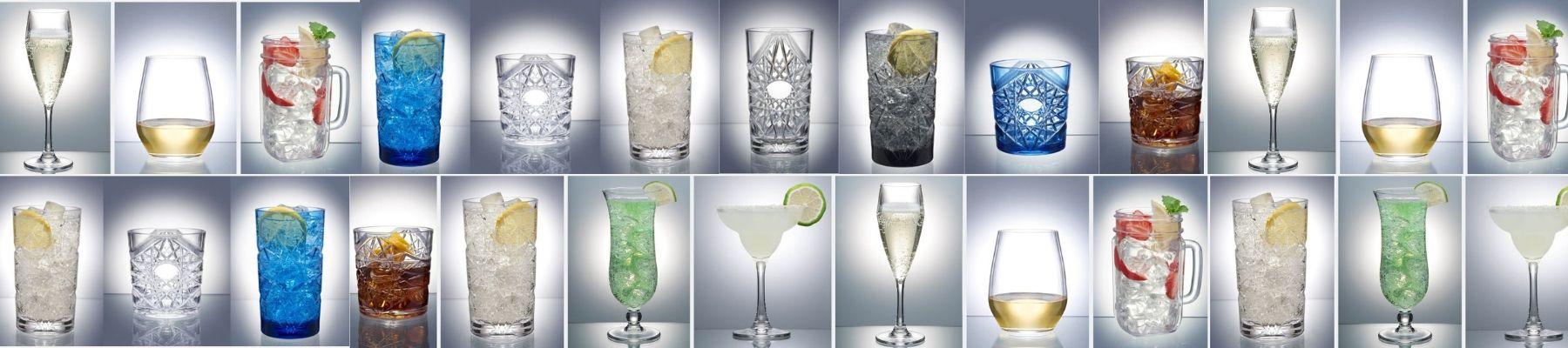 Plastic Stemless wine glasses