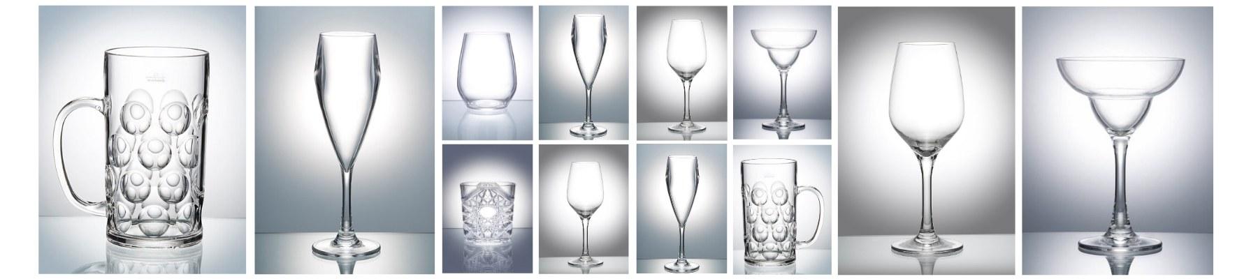 Reusable Plastic Champagne Flutes