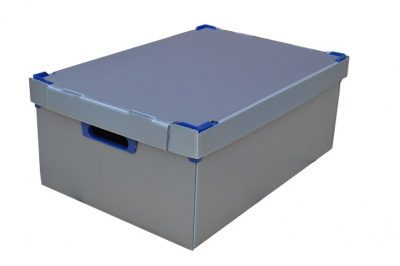 3. Medium Correx Stacking Storage Boxes, Pack of 1, Height 195mm