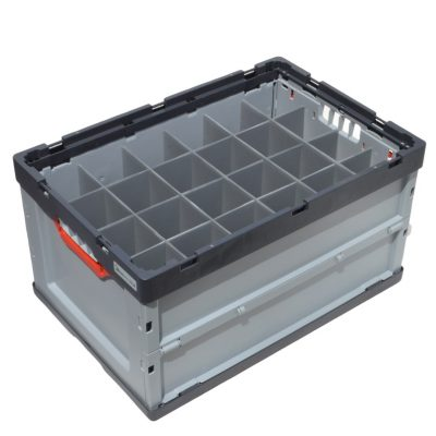 8. Container Auer Euro Folding Crate with Dividers 15 cells