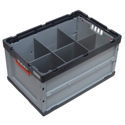 Folding Glass Storage Crate