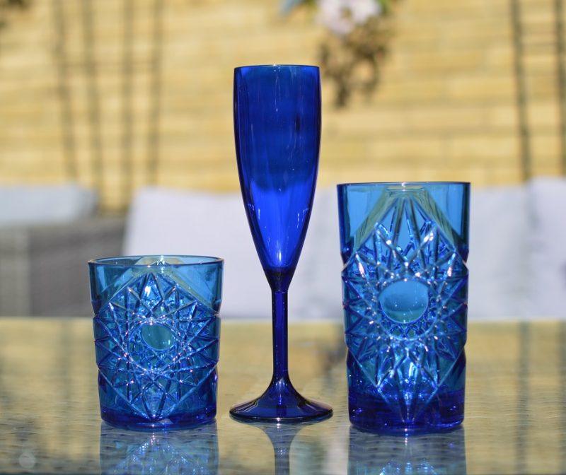 Blue Plastic Glasses
