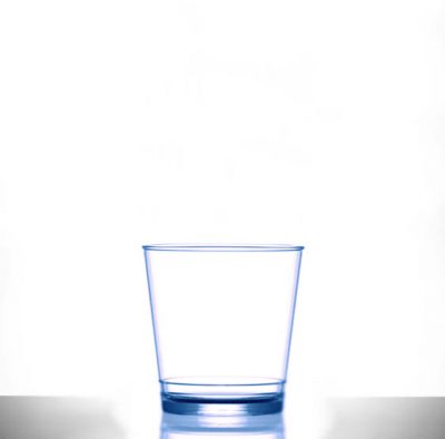 Stacking Plastic Glasses Rocks In2stax Clear Blue 9oz - 12 Pack