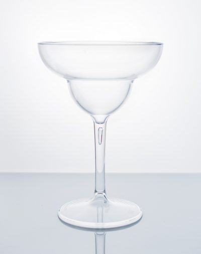 Crystal Plastic Cocktail Glasses Pina Colada / Hurricane - Pack of 4