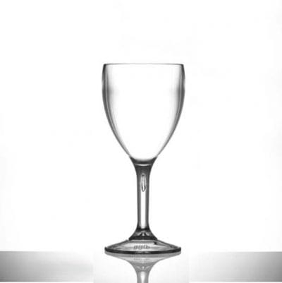 Bulk Buy Reusable Plastic Wine Glasses 9oz Medium - Polycarbonate - 24 Pack