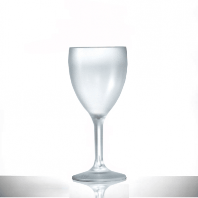 Elite Premium Frosted Polycarbonate 9oz Wine Glasses NS - 6 Pack
