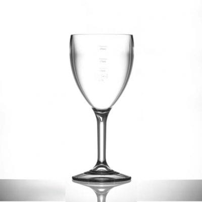 Lined @ 125ml, 175ml and 250ml Elite Premium Polycarbonate Wine Glasses, 11oz - 12 Pack
