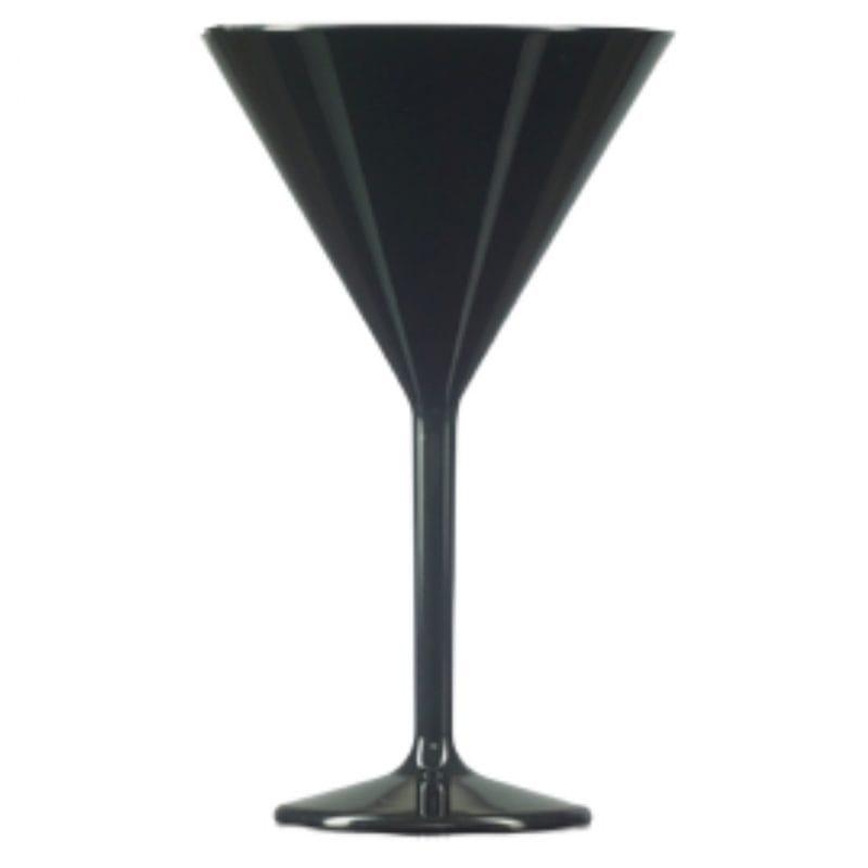 Black Plastic Martini Glass