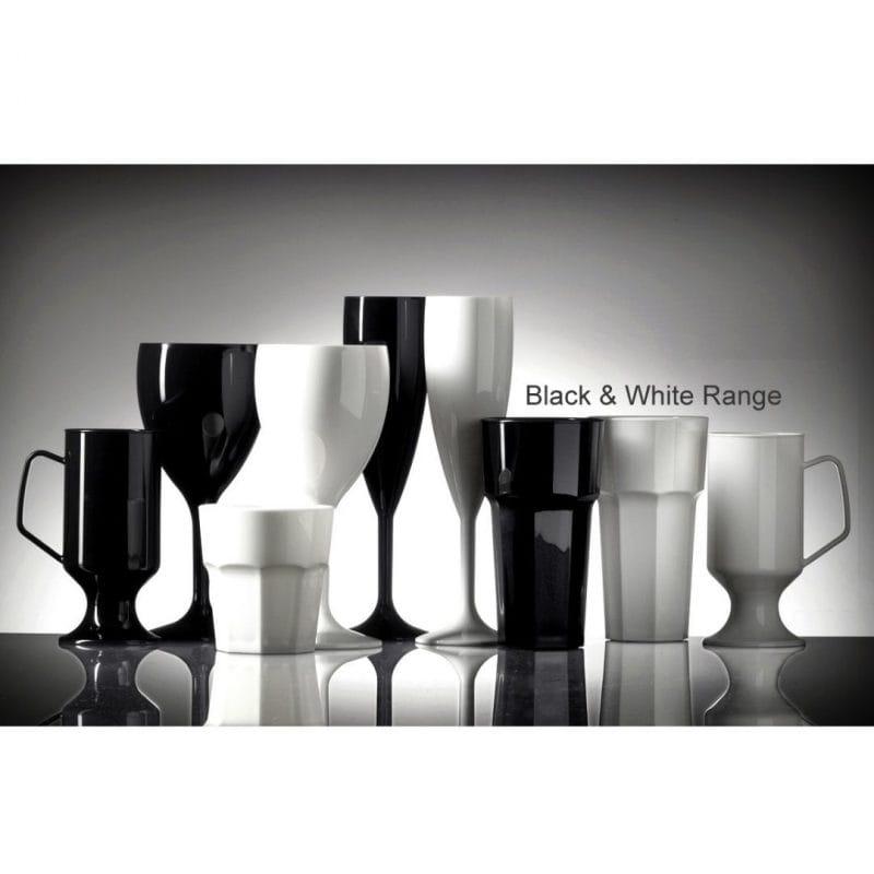 Black and White Plastic Glasses