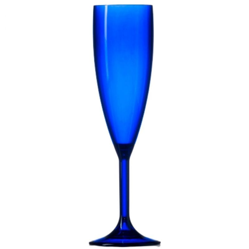 Blue champagne flute and glasses
