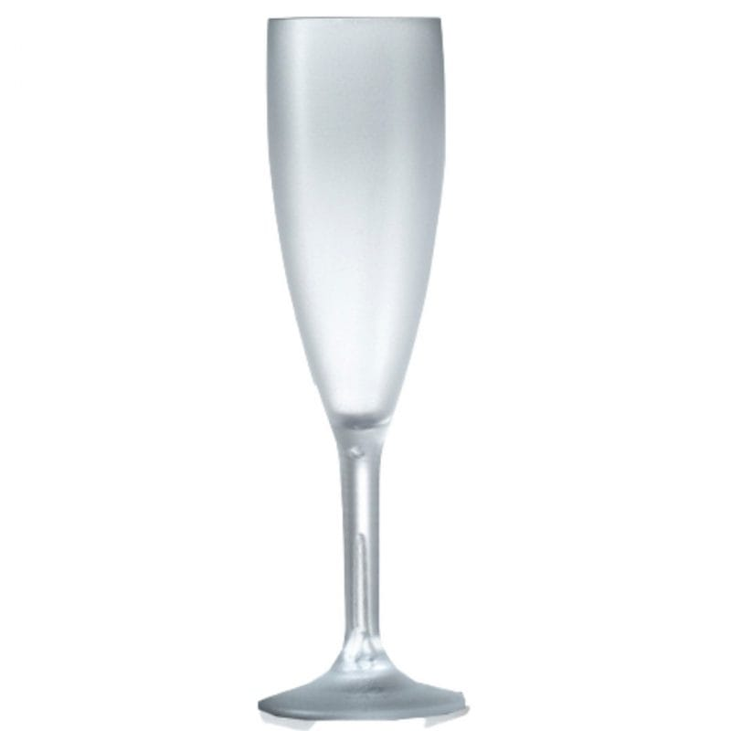 Frosted Champagne Flute and glass