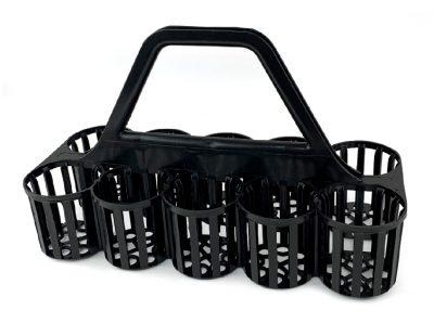 Glass Carrier - Beaumont - Black