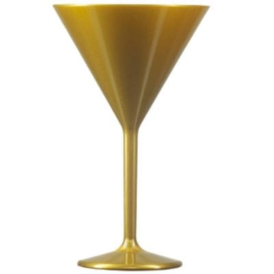 Gold Martini Glasses - Reusable and Unbreakable