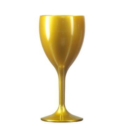 Gold Plastic Wine Glasses
