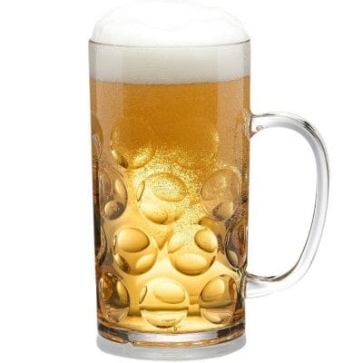 Reusable Plastic Stein Beer Mug 18,3oz - 4 Pack