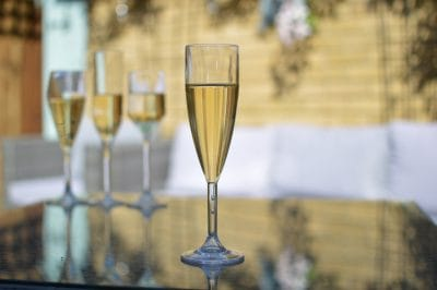 Plastic Champagne Flute - 141 Clear