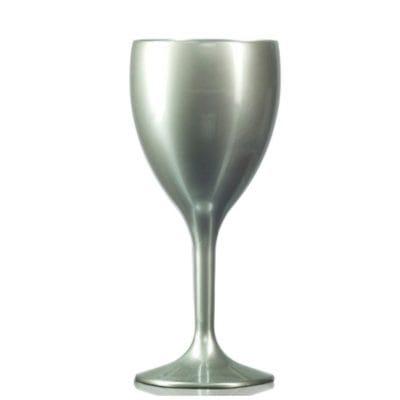 Silver Plastic Wine Glasses