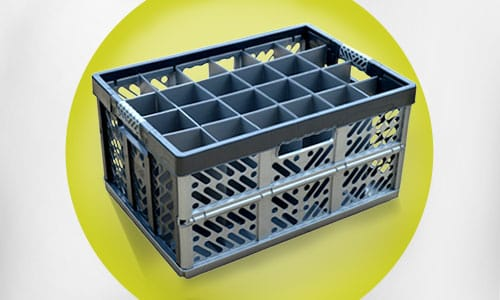 Folding Crate Glassware Storage