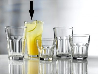 Aras Tall Glass Tumblers 36cl / 12.5oz - 24 Pack, £1.26 each