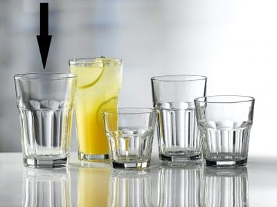 Aras Glass Tumblers 43cl / 15.25oz - 24 Pack, £1.26 each