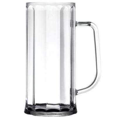 Elite Premium Plastic Bavarian Beer Tankard, Nucleated 20oz CE