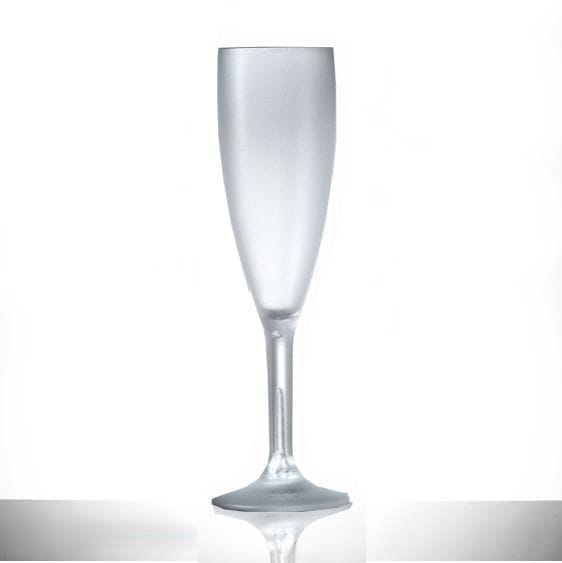 Elite Premium Frosted Polycarbonate 6.6oz Champagne Flute - 6 Pack