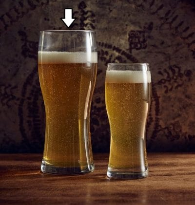 Helles Large Beer Glass, 65cl / 22.9oz - Pack of 12, £2.03 each