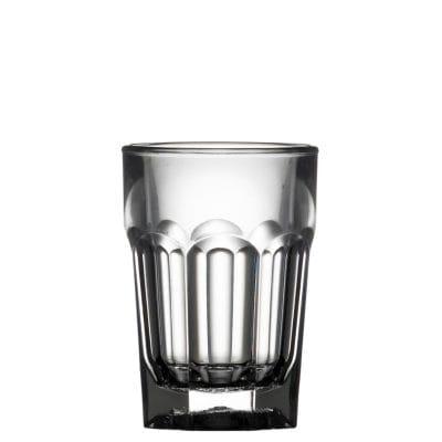 plastic remedy shot glass - clear