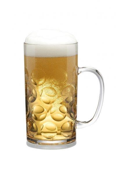 Reusable Plastic Beer Mug 0,5l / 54cl - 4 Pack