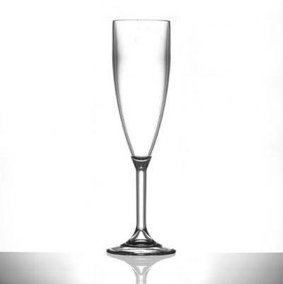 Champagne Plastic Flutes - Polycarbonate 6.6oz - 6 Pack