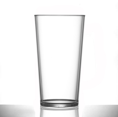 Conical Polycarbonate Pint Glasses Elite Premium - Pack of 6