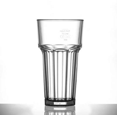 Elite Remedy Polycarbonate 12oz Tall Glasses, Lined @ Half Pint CE - 36 Pack