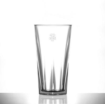 Elite Penthouse 12oz Polycarbonate Tall Glass / Tumbler - Lined @ Half Pint - 12 Pack