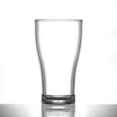 Elite Viking Polycarbonate Glasses - Lined @ 2/3 Pint Nucleated 15oz CE- 24 Pack
