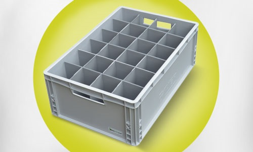 Solid Euro Crate Glass Storage