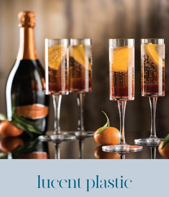 Utopia plastic champagne flutes