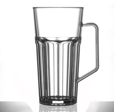Tall Plastic Mug Clear Remedy